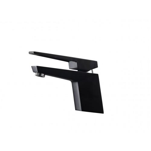 Aqua Siza Single Lever Modern Bathroom Vanity Faucet - Matt Black
