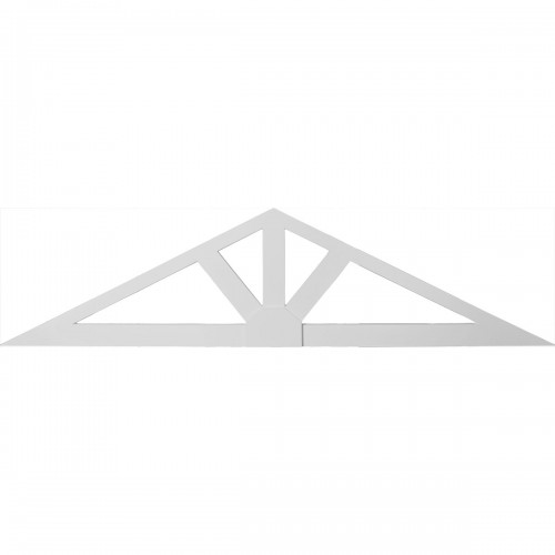 102W x 25 1/2H x 1 1/2P 6/12 Pitch Dublin Gable Pediment