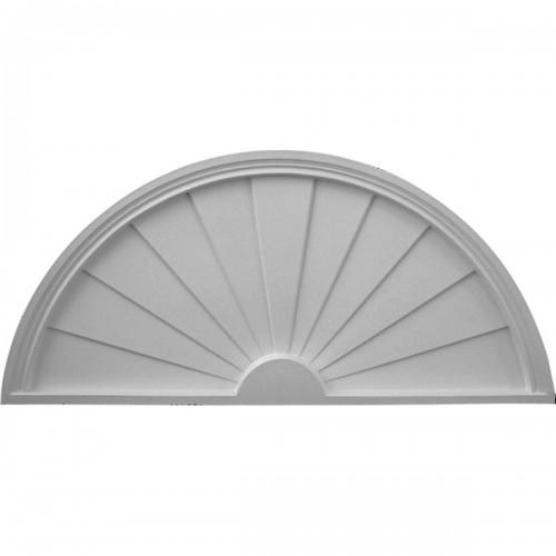 48W x 24H x 2P Half Round Sunburst Pediment