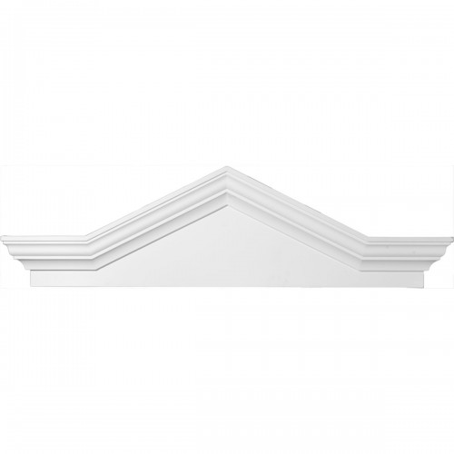 52 1/8W x 16H x 2 3/8P Peaked Cap Pediment with Flankers