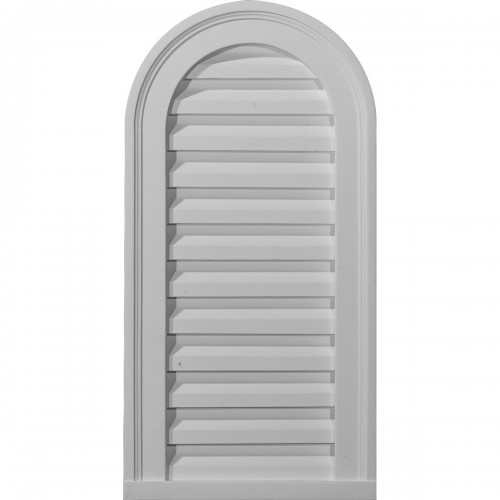 12W x 24H Cathedral Gable Vent Louver Decorative