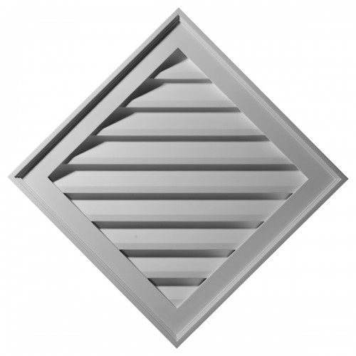 34W x 34H (24 Sides) Diamond Gable Vent Louver Decorative