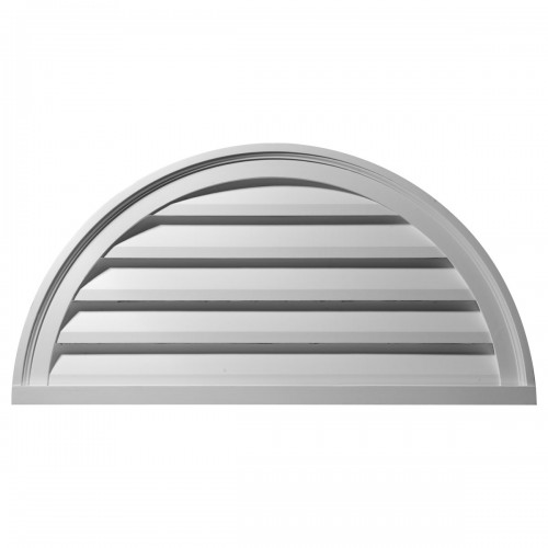 40W x 20H Half Round Gable Vent Louver Functional