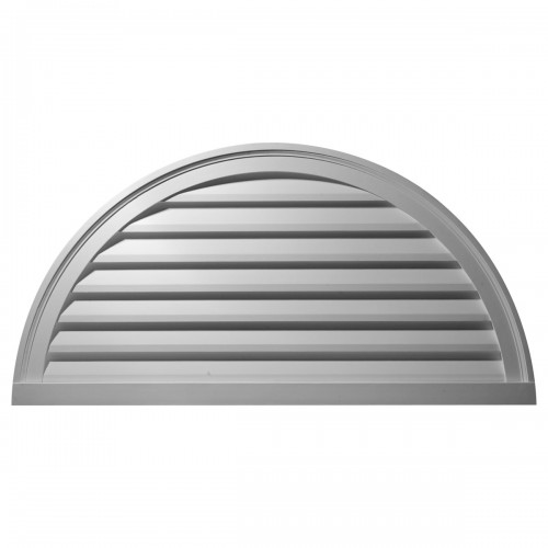 60W x 30H Half Round Gable Vent Louver Decorative