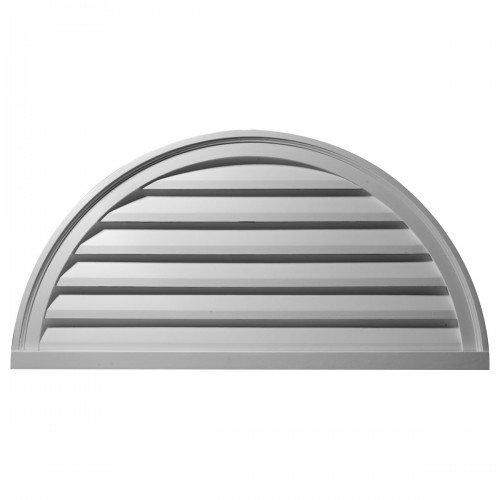60W x 30H Half Round Gable Vent Louver Functional