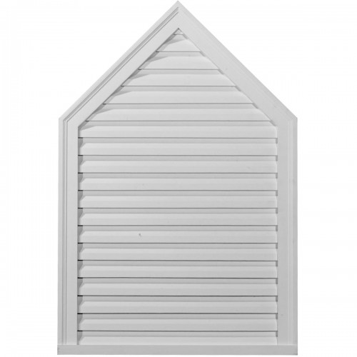 24 3/8W x 36 3/8H x 1 3/4P Peaked Gable Vent - Functional