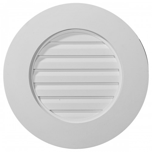 20W x 20H Round Gable Vent Louver Functional