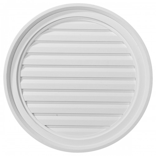 22W x 22H Round Gable Vent Louver Functional