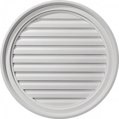 24W x 24H Round Gable Vent Louver Functional
