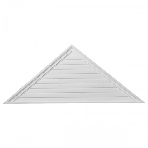 65W x 27H x 2 1/8P Pitch 10/12 Triangle Gable Vent - Functional