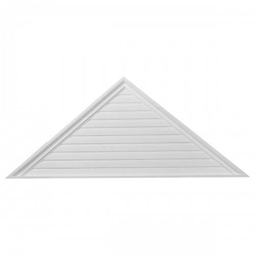 72W x 18H x 2 1/8P Pitch 6/12 Triangle Gable Vent - Decorative
