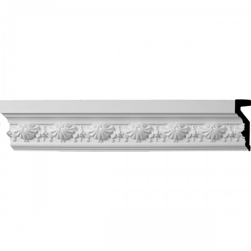 4 1/4H x 1 1/4P x 96L (3 1/4 Repeat) Small Swag Panel Moulding