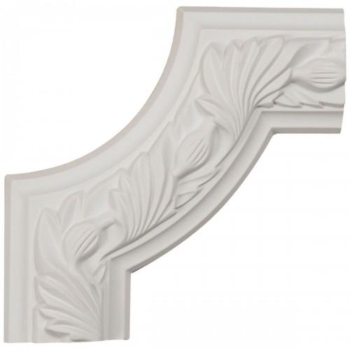 6W x 6H x 3/4P Milton Running Leaf Panel Moulding Corner