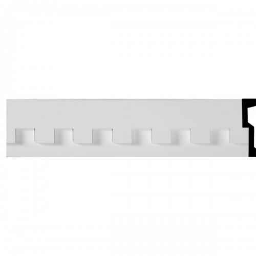 7H x 1 5/8P x 94 1/2L Dentil Panel Moulding