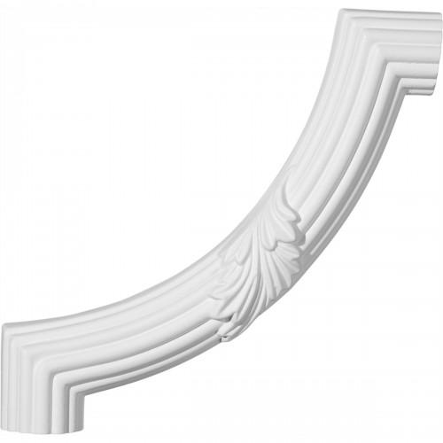 8 7/8W x 8 7/8H Reeded Acanthus Leaf Panel Moulding Corner