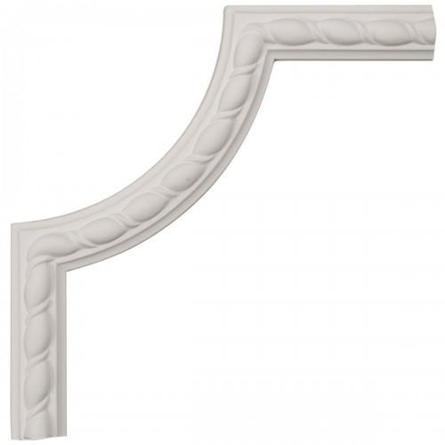 8W x 8H x 5/8P Bulwark Rope Panel Moulding Corner