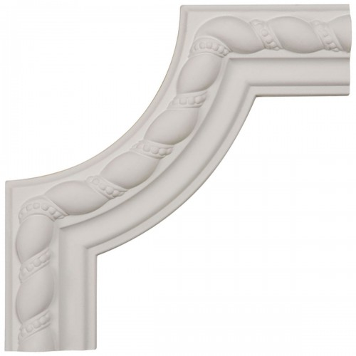 8W x 8H x 7/8P Devon Rope Panel Moulding  Corner
