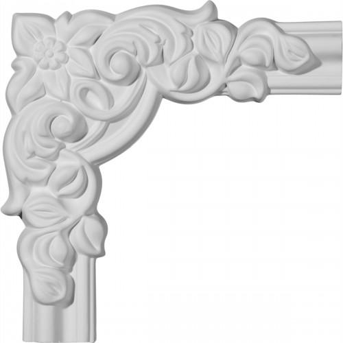 8W x 8H x 1 1/8P Seville Panel Moulding Corner