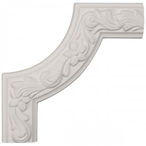 8W x 8H x 1 7/8P Sussex Floral Panel Moulding Corner