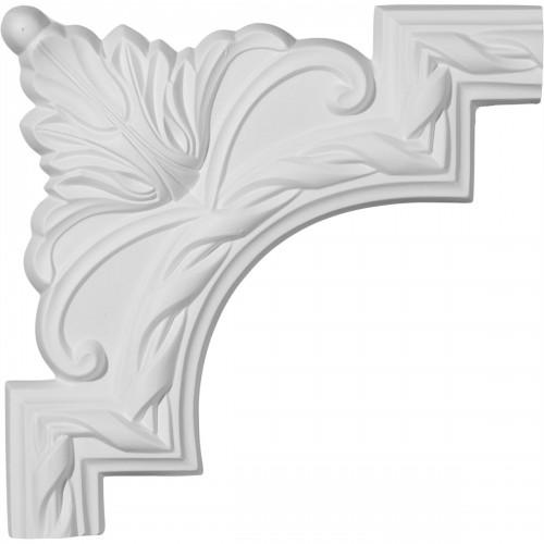 9W x 9H Jackson French Ribbon Panel Moulding Corner